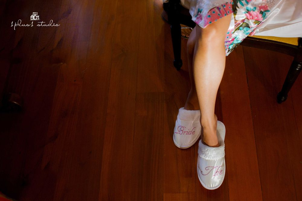 Photo of Customised soft bridal slippers