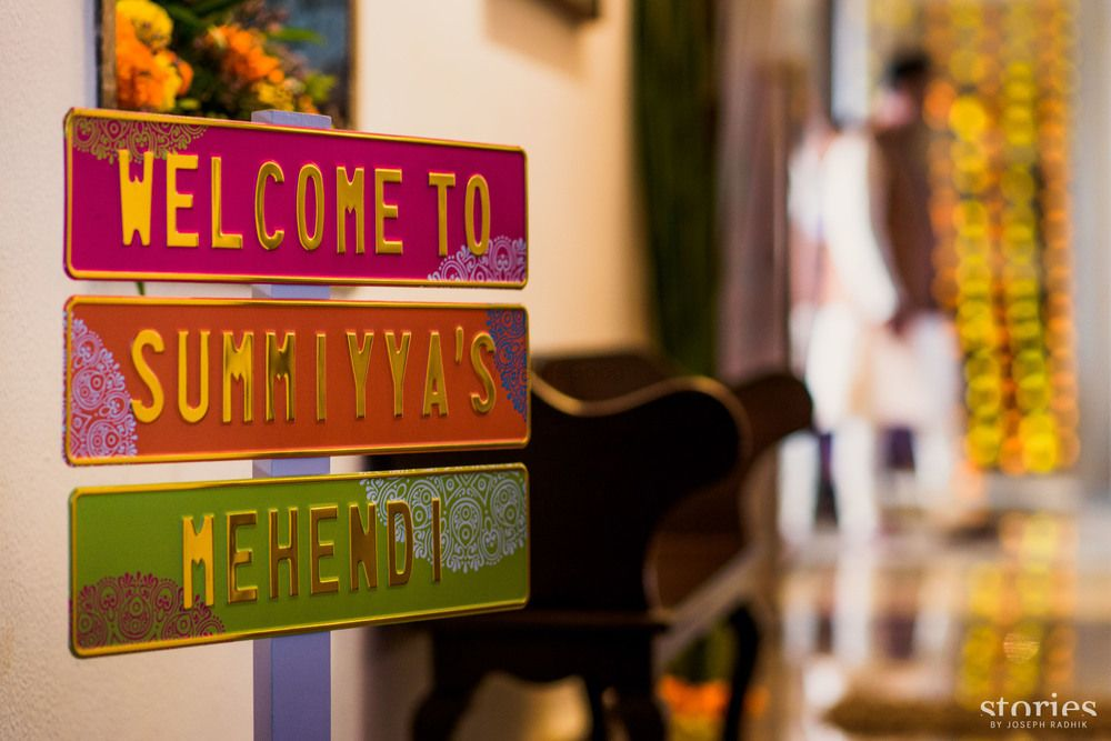 Photo of Personalised welcome decor for mehendi