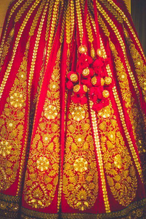 Photo of Bridal lehenga in velvet