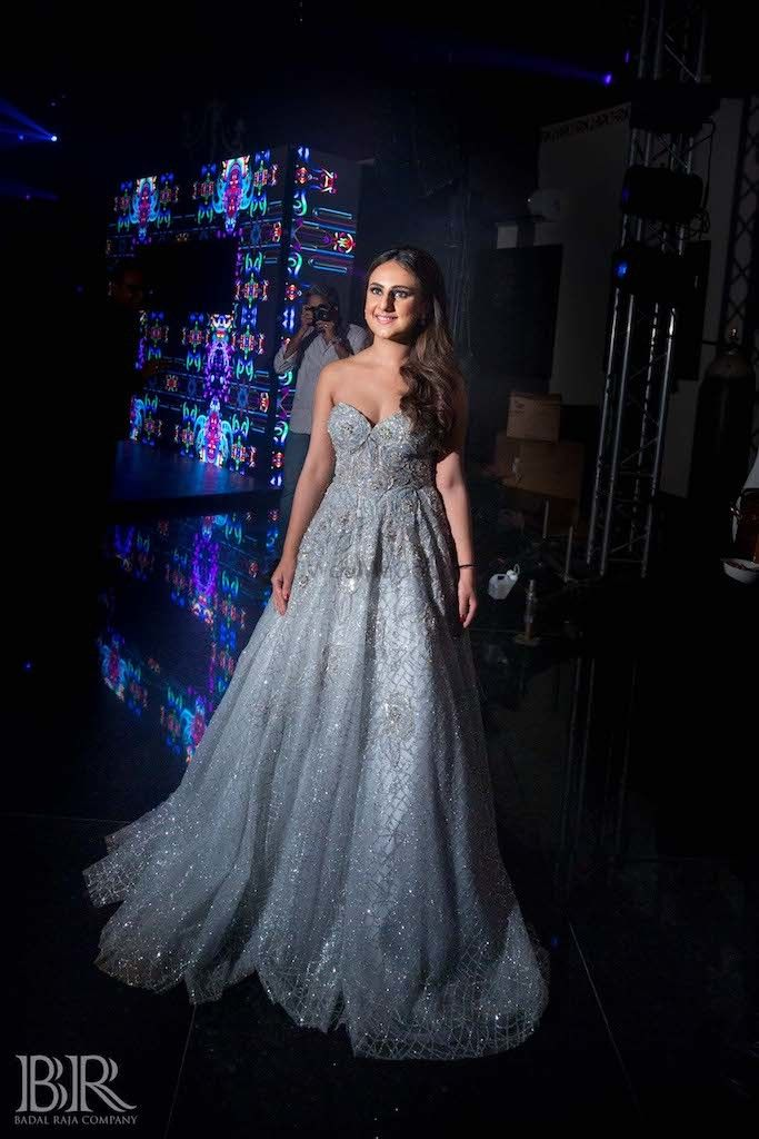 Photo of Sparkly strapless  bridal gown
