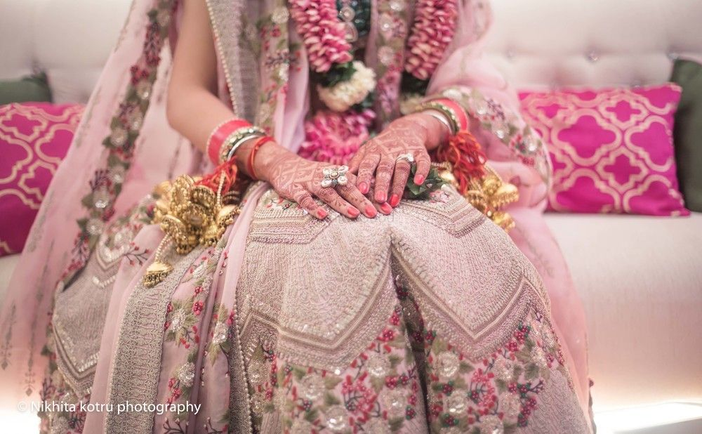 Photo of Offbeat floral Anamika Khanna lehenga