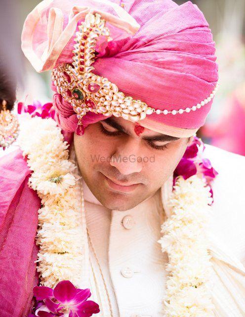 Light Pink Groom Wear Photo