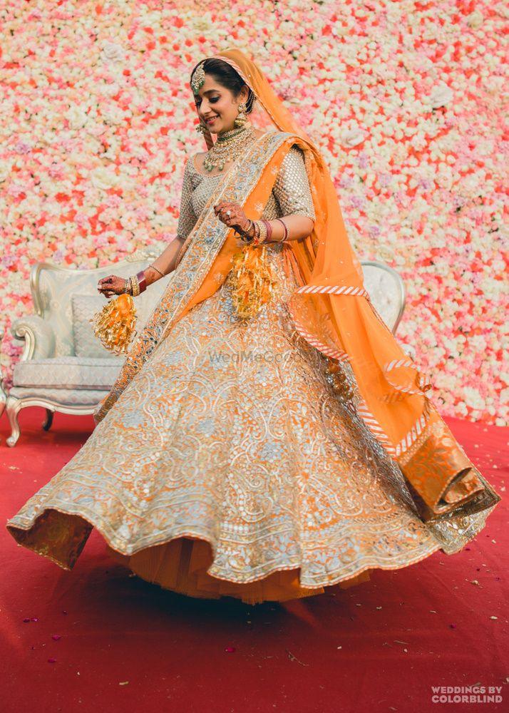 Orange Bridal Lehenga Photo Orange lehenga