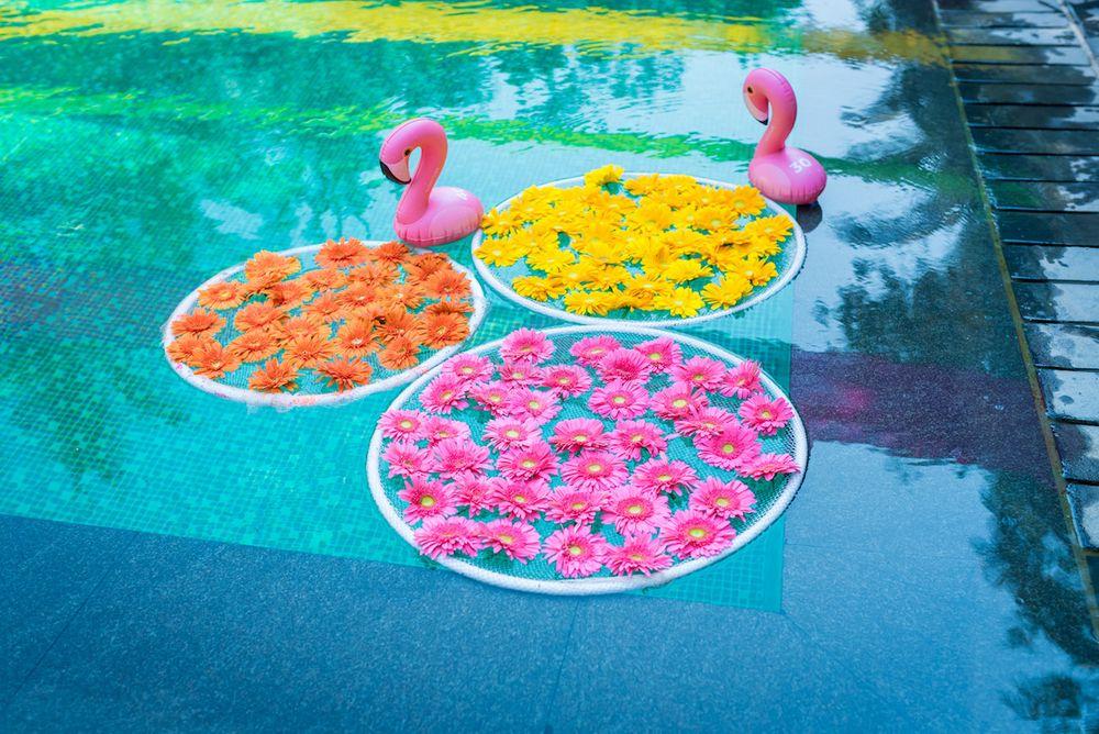 Photo of Pool decor idea for mehendi