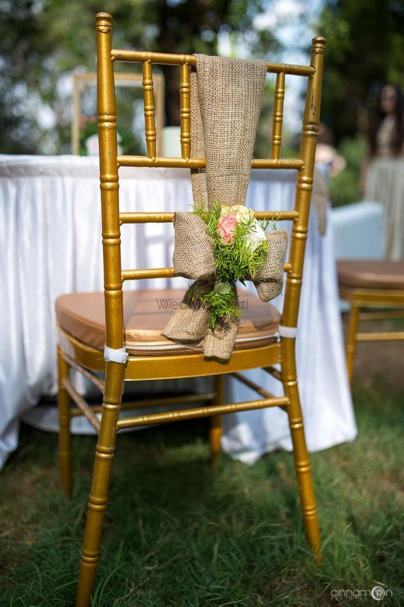 Photo of Unique idea for decorating the decor with floral and jute