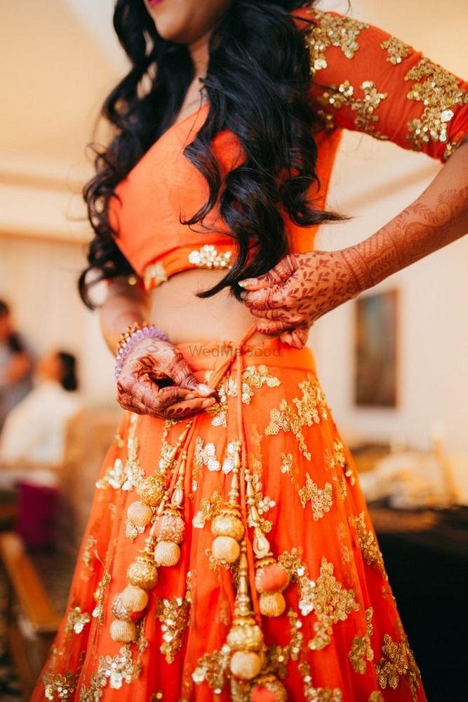 Orange Outfits Photo summer wedding