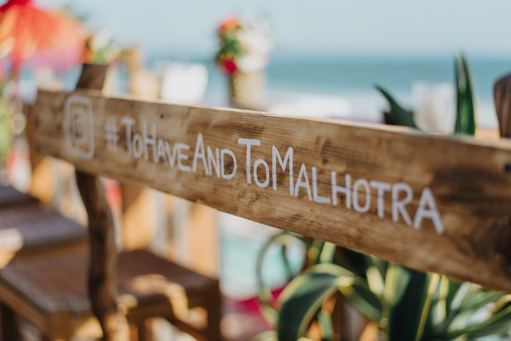 Photo of Wedding hashtag idea for destination wedding