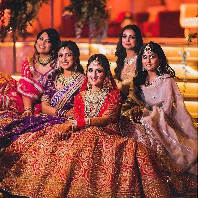 Photo of Bridal photo with bridesmaids