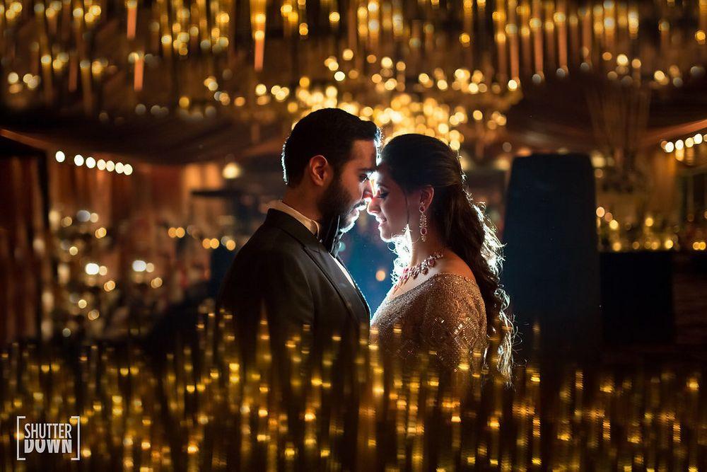 Photo of Romantic couple portrait shot with lights