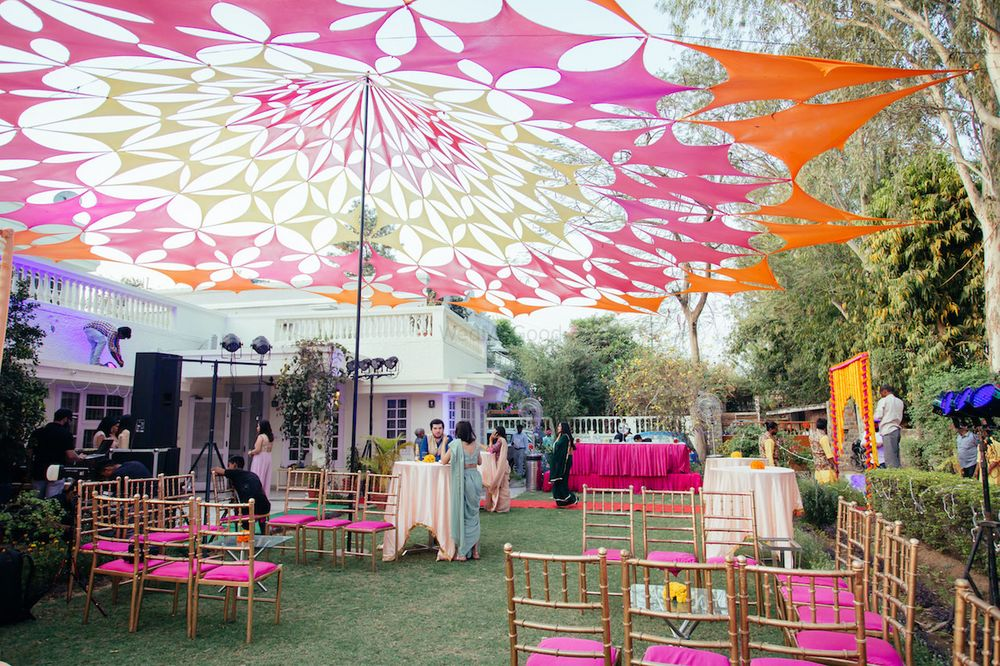 Photo of Umbrella tent decor for mehendi