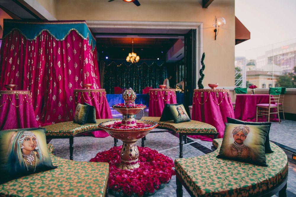 Photo of Fuschia pink arabian night decor