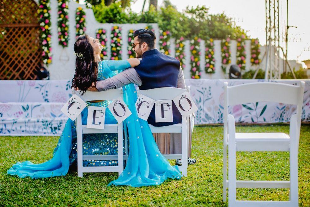 Photo of Unique couple shot for pre wedding shoot