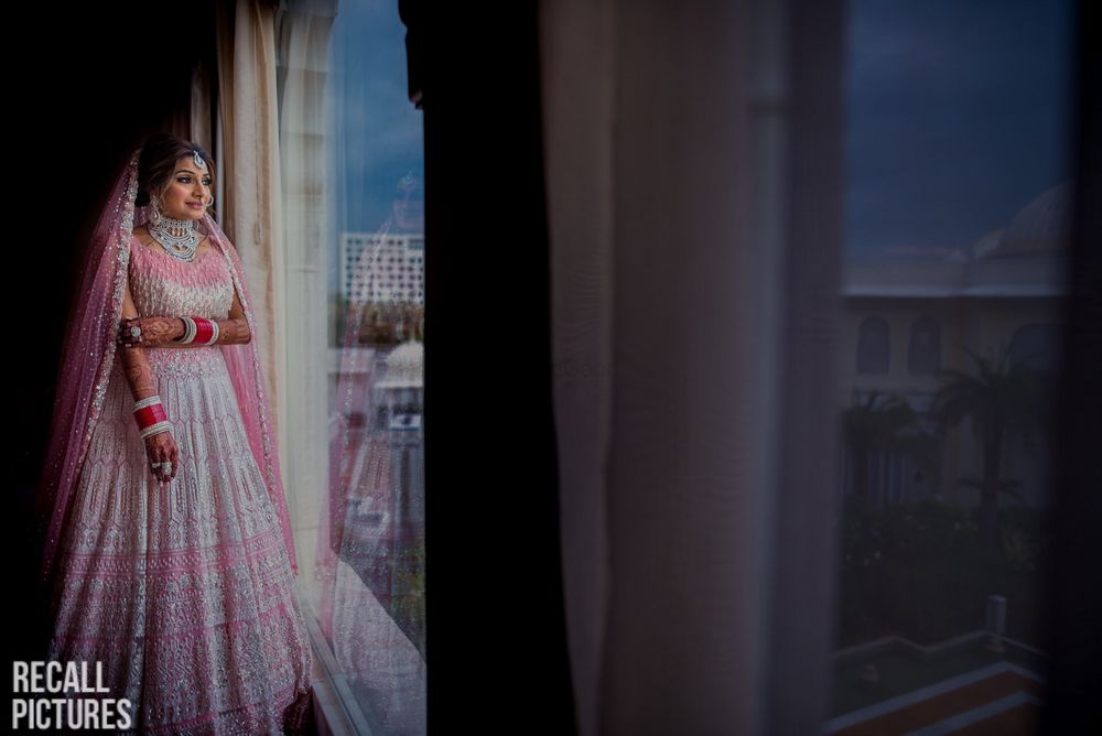 Photo of Gorgeous pink and silver bridal lehenga for wedding