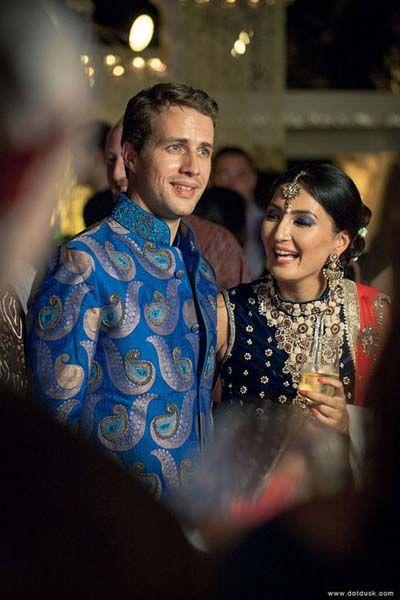Photo of blue silk bandh gala