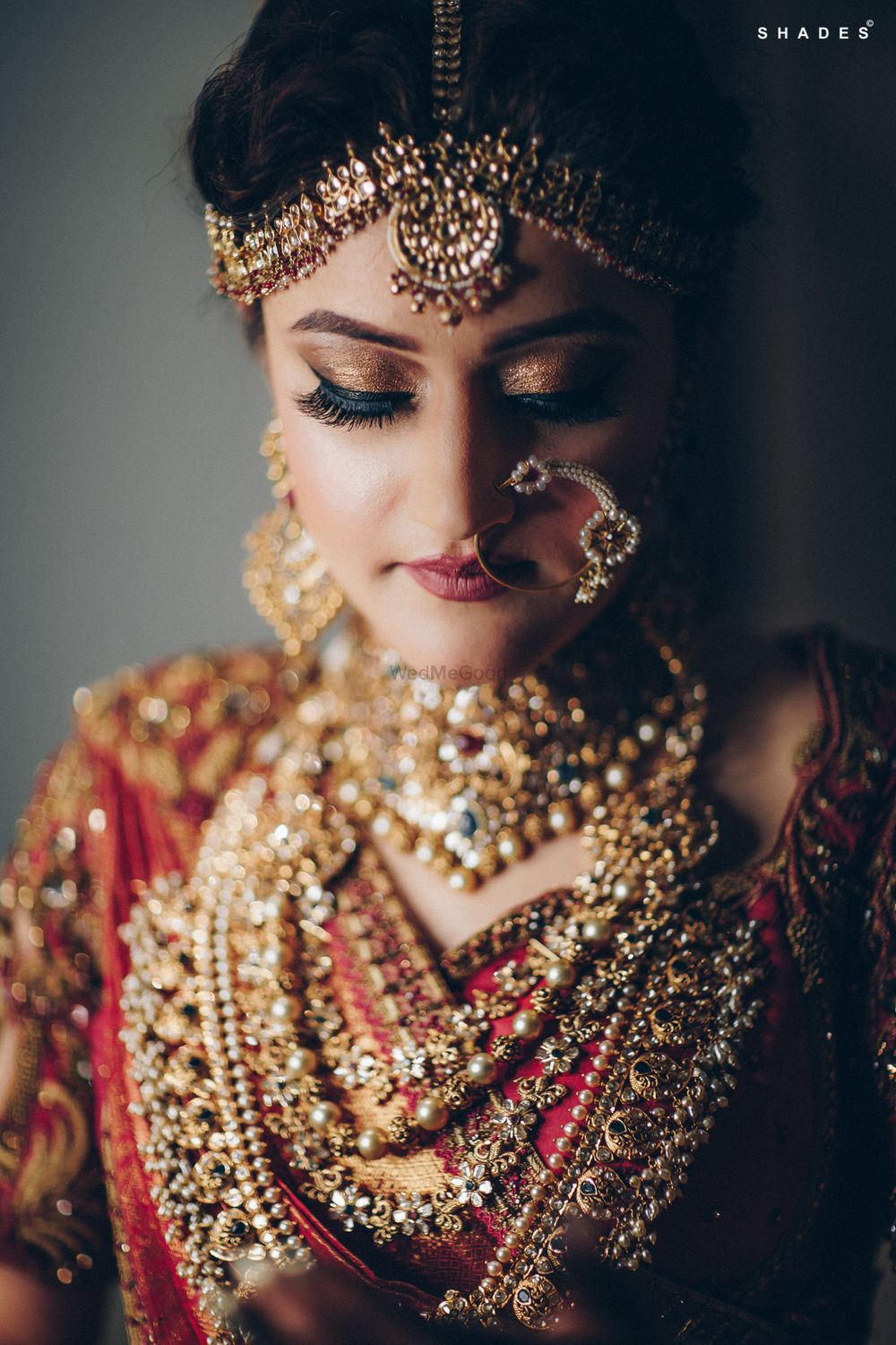 Photo of A south Indian bride in gold jewelry
