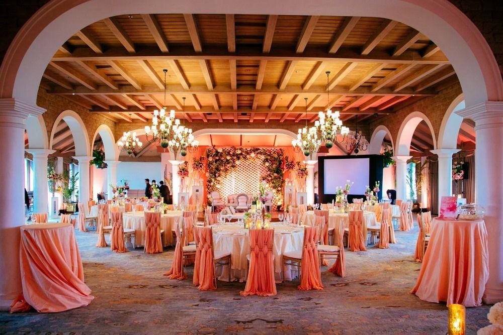 Peach Wedding Venues Photo taj mansingh hall decor