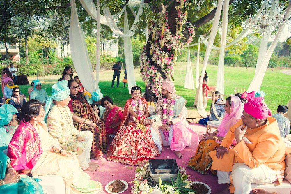 Photo of Simple mandap under the tree