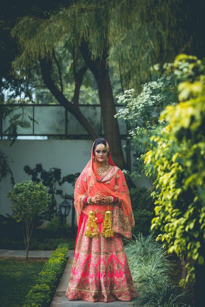 Photo of Coral bridal lehenga