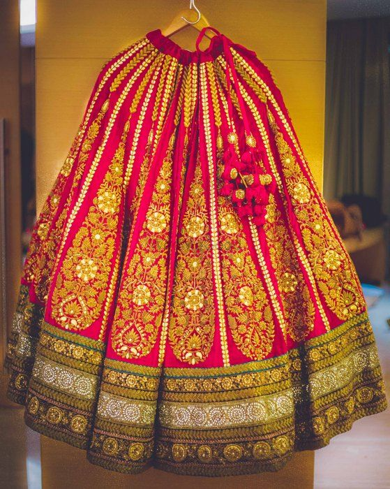 Photo of Bridal lehenga in velvet