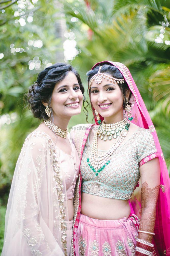 Bright Pink Bridal Lehenga Photo Mint and pink bridal lehenga
