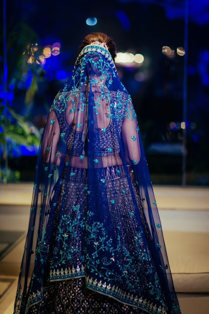 Photo of Offbeat bridal lehenga back shot