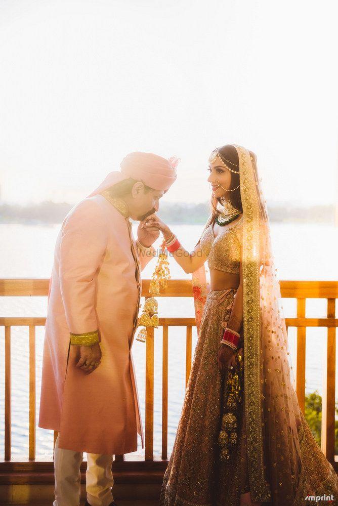 Photo of Blush pink bridal lehenga ,