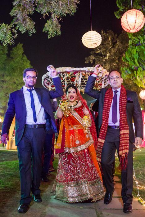 Photo of lightweight bridal lehenga