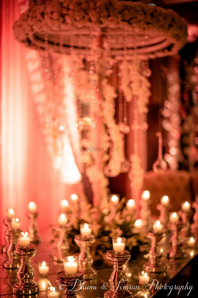 White Wedding Decor Photo