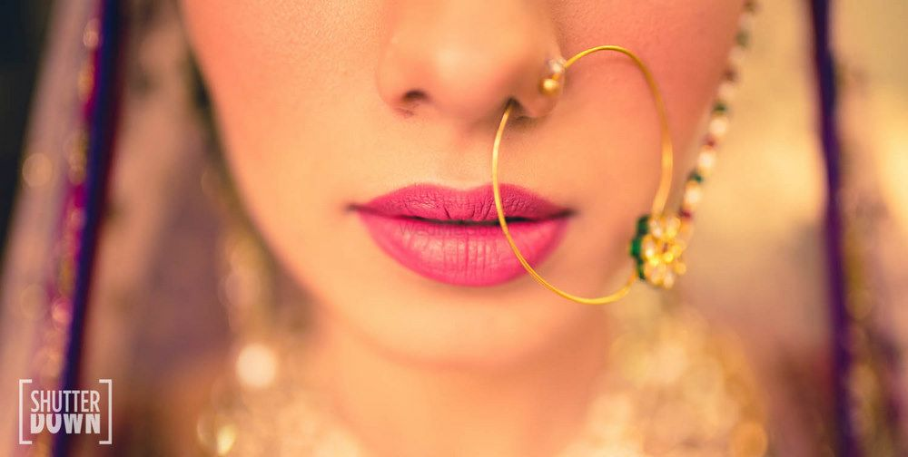 Photo of Delicate nosering on bride