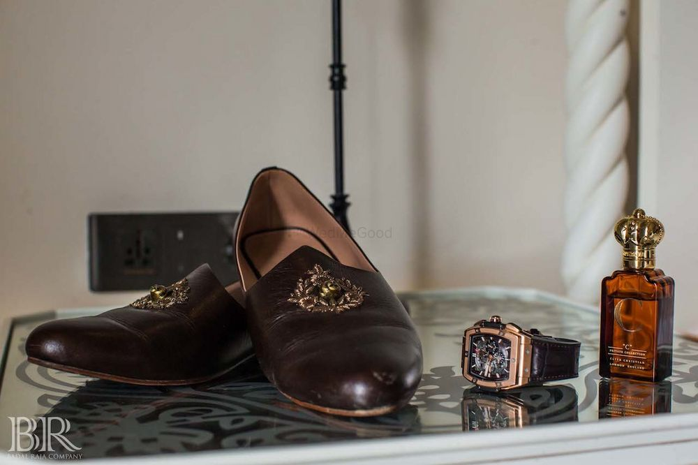 Photo of Sabyasachi groom shoes in dark brown
