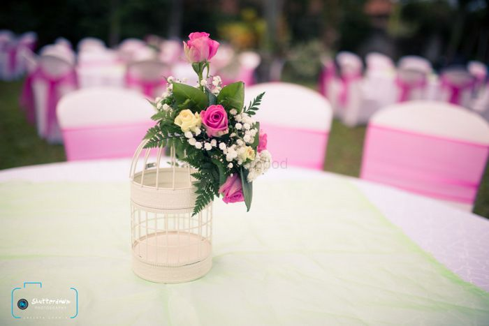 Photo of table centerpieces