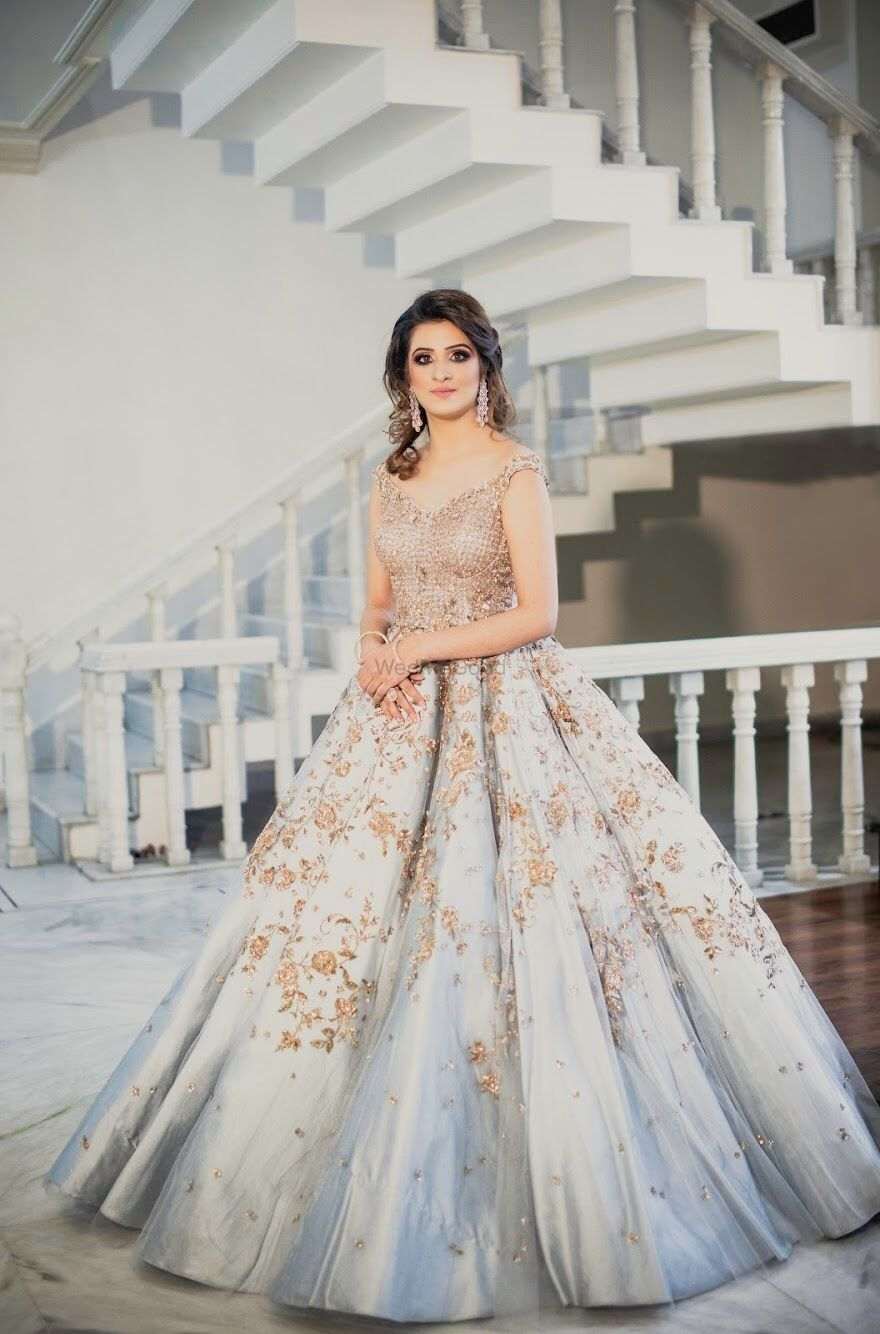 Photo of Powder blue cocktail gown