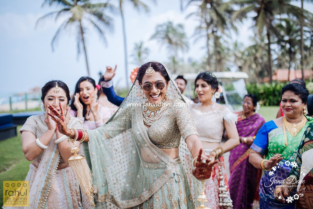 Photo of A bride dancing in her own baraat