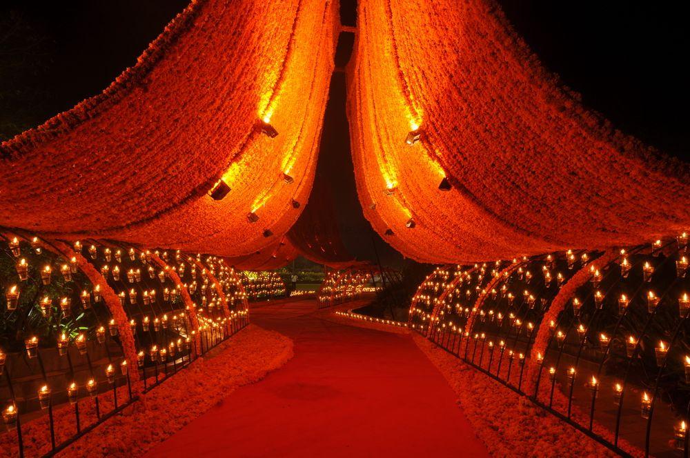 Photo of Floral wedding entrance