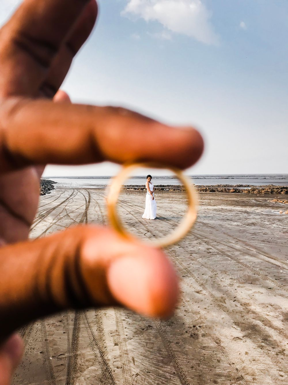 Photo of Pre wedding shoot engagement idea with ring