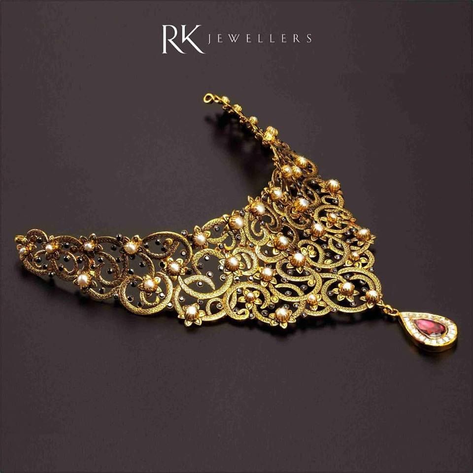 Photo of gold bridal statement necklace