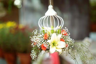 Photo of hanging birdcage