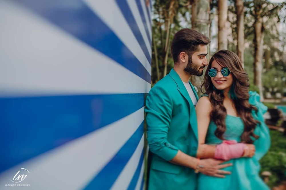 Photo of pre wedding shoot ideas with matching bride and groom outfits