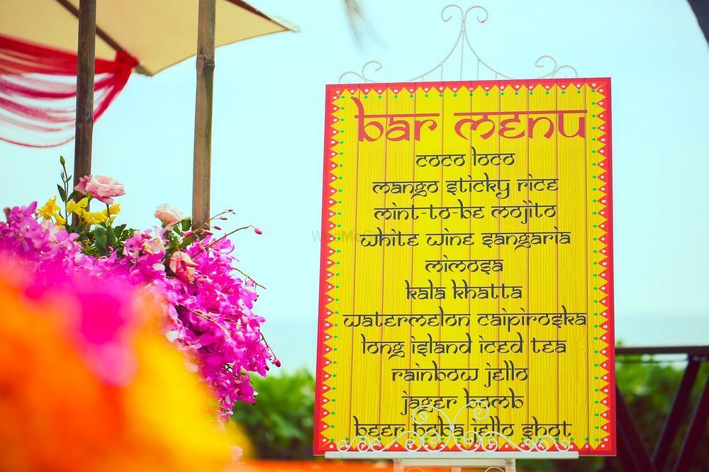 Photo of Bar menu board for day decor