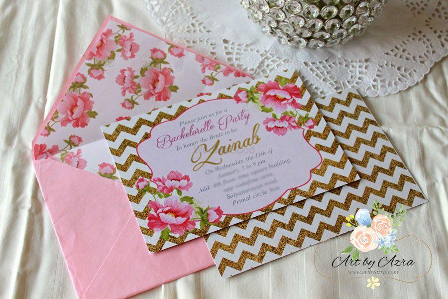 Photo of Bachelorette Invitation in pink!