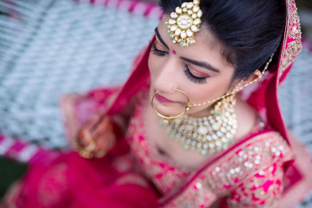 Photo of Bridal portrait with stunning makeup!