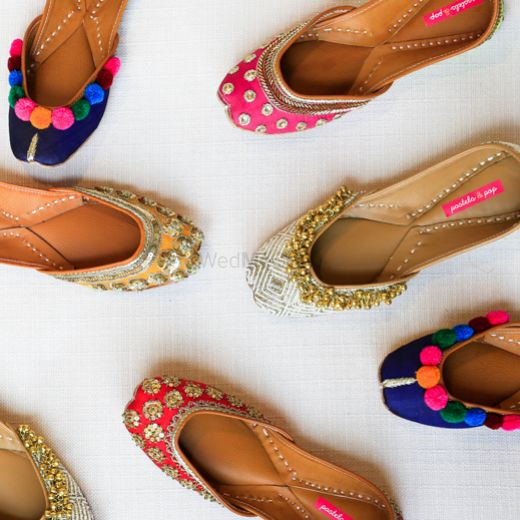 Photo of funky bridal shoes