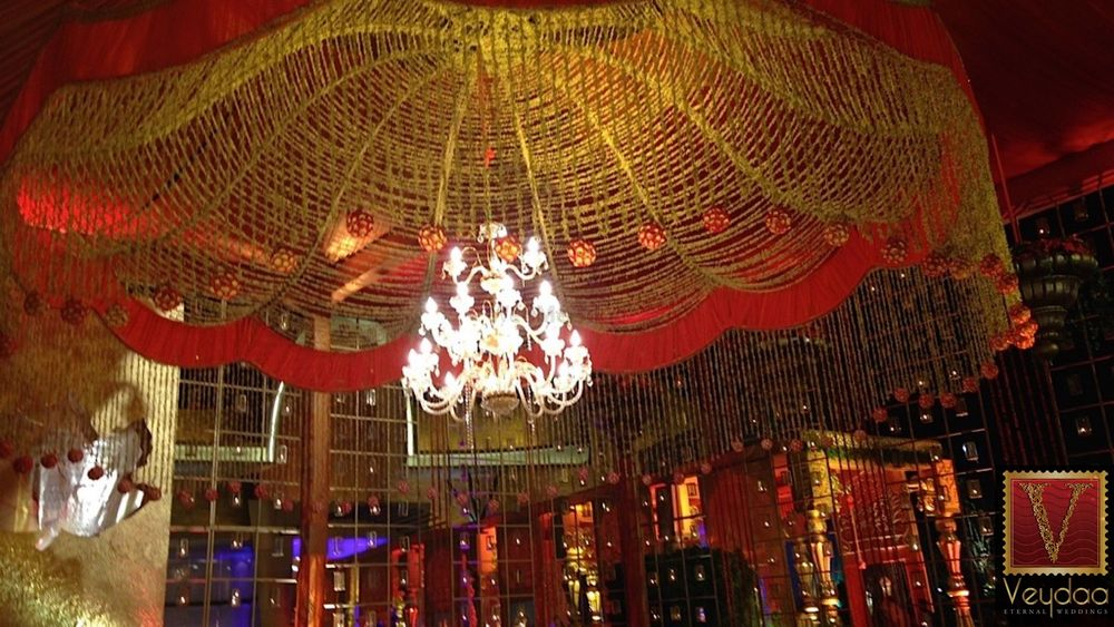 Photo of red and gold theme decor