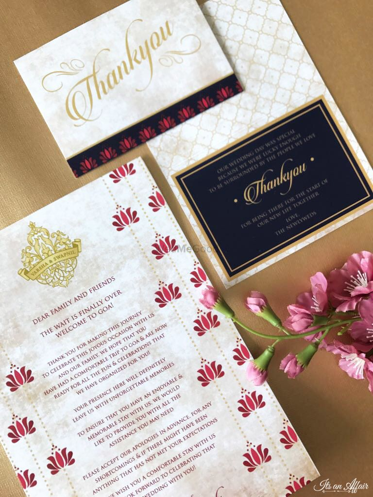 Photo of Classy simple wedding invite