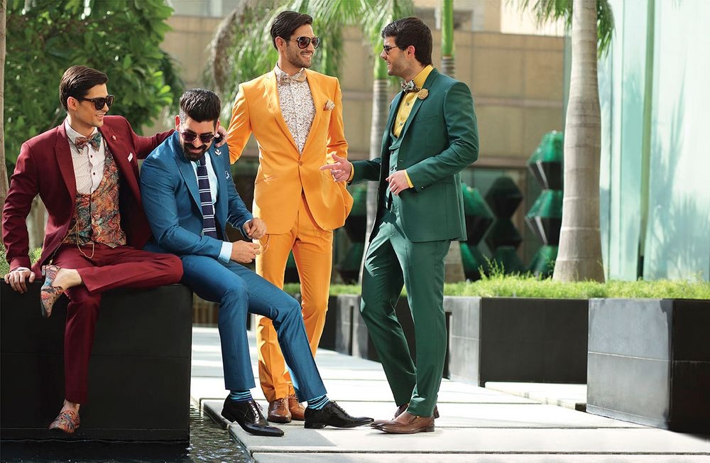 Photo of colorful suits