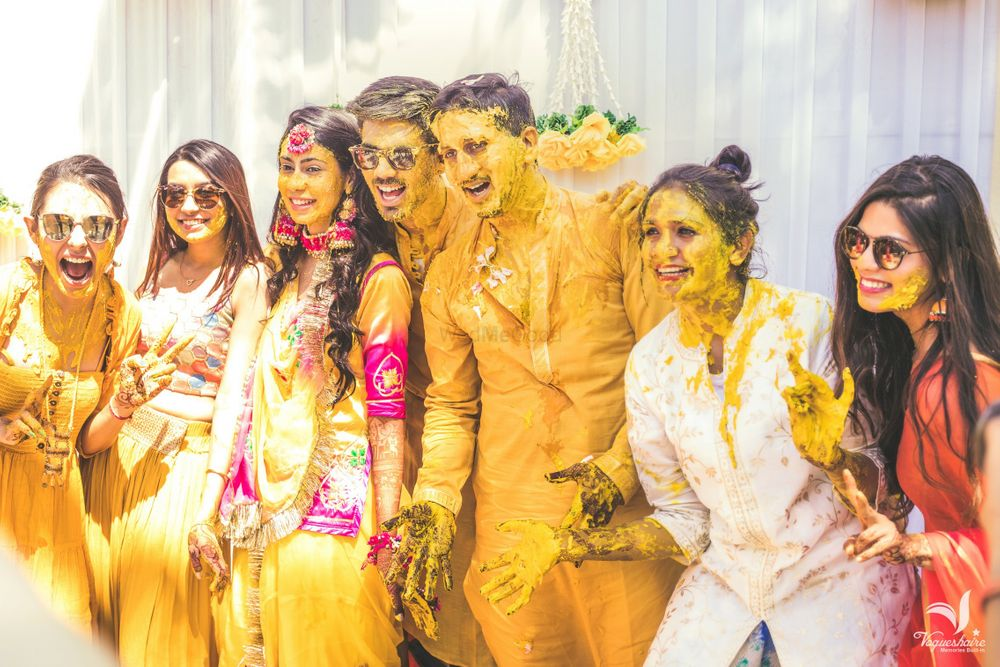 Photo of A fun Haldi shot with your squad!