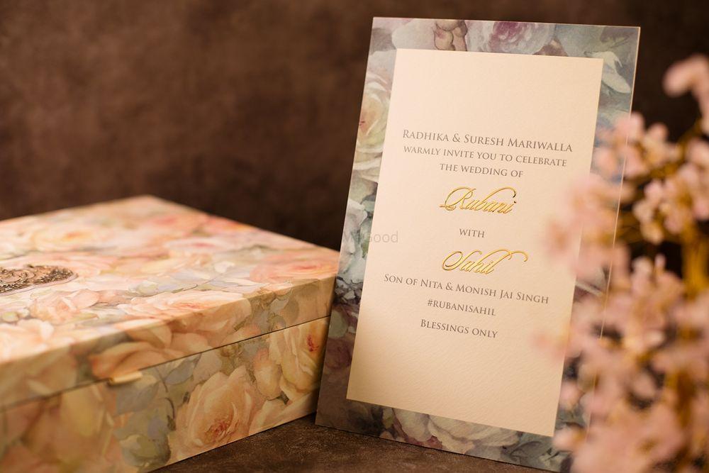 Peach Invitations & Favors Photo