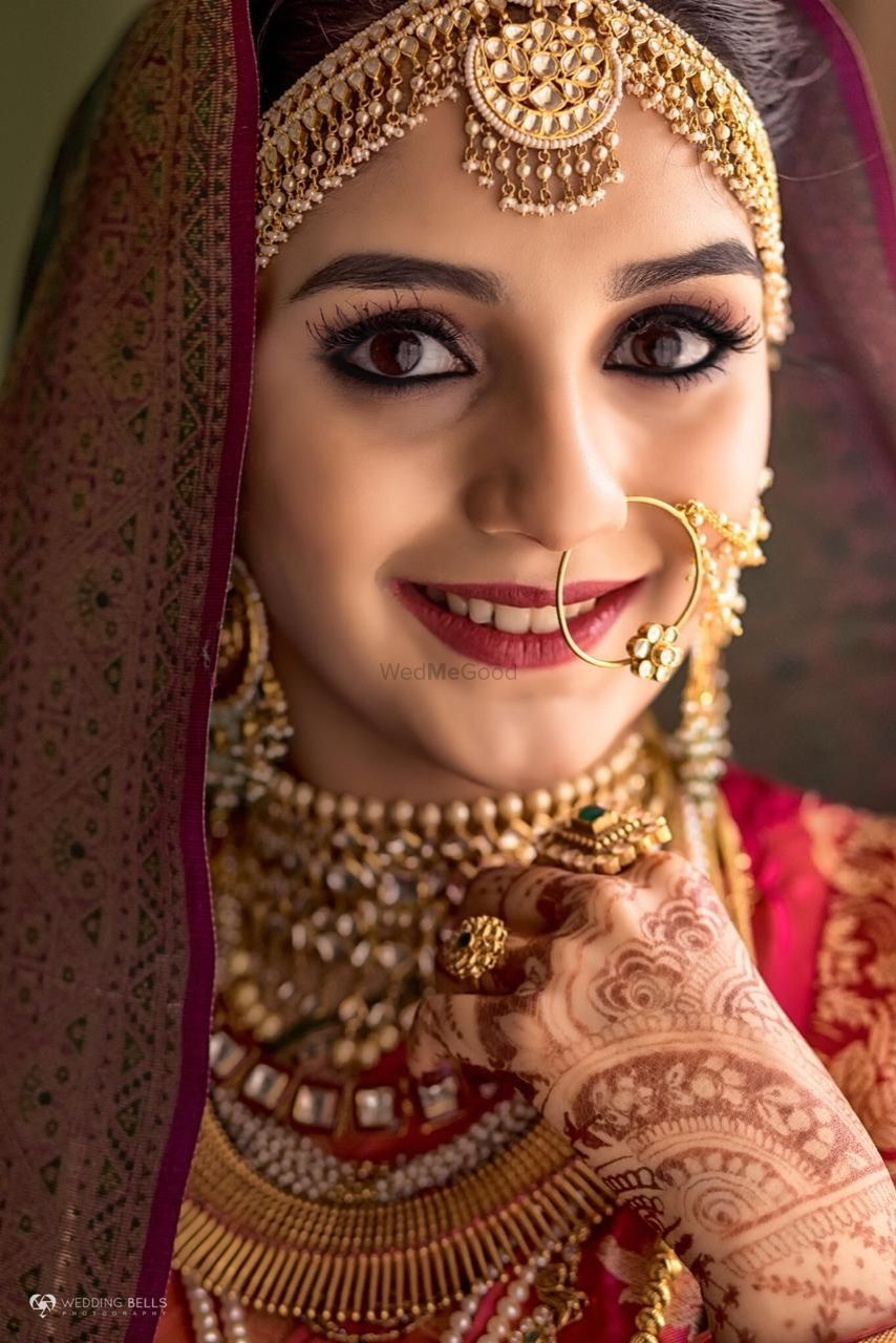 Photo of Dark kohl eyes for South Indian bride