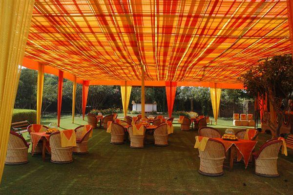 Photo of Orange and Yellow Outdoor Decor