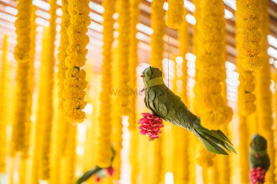 Photo of Unique hanging floral decor for mehendi